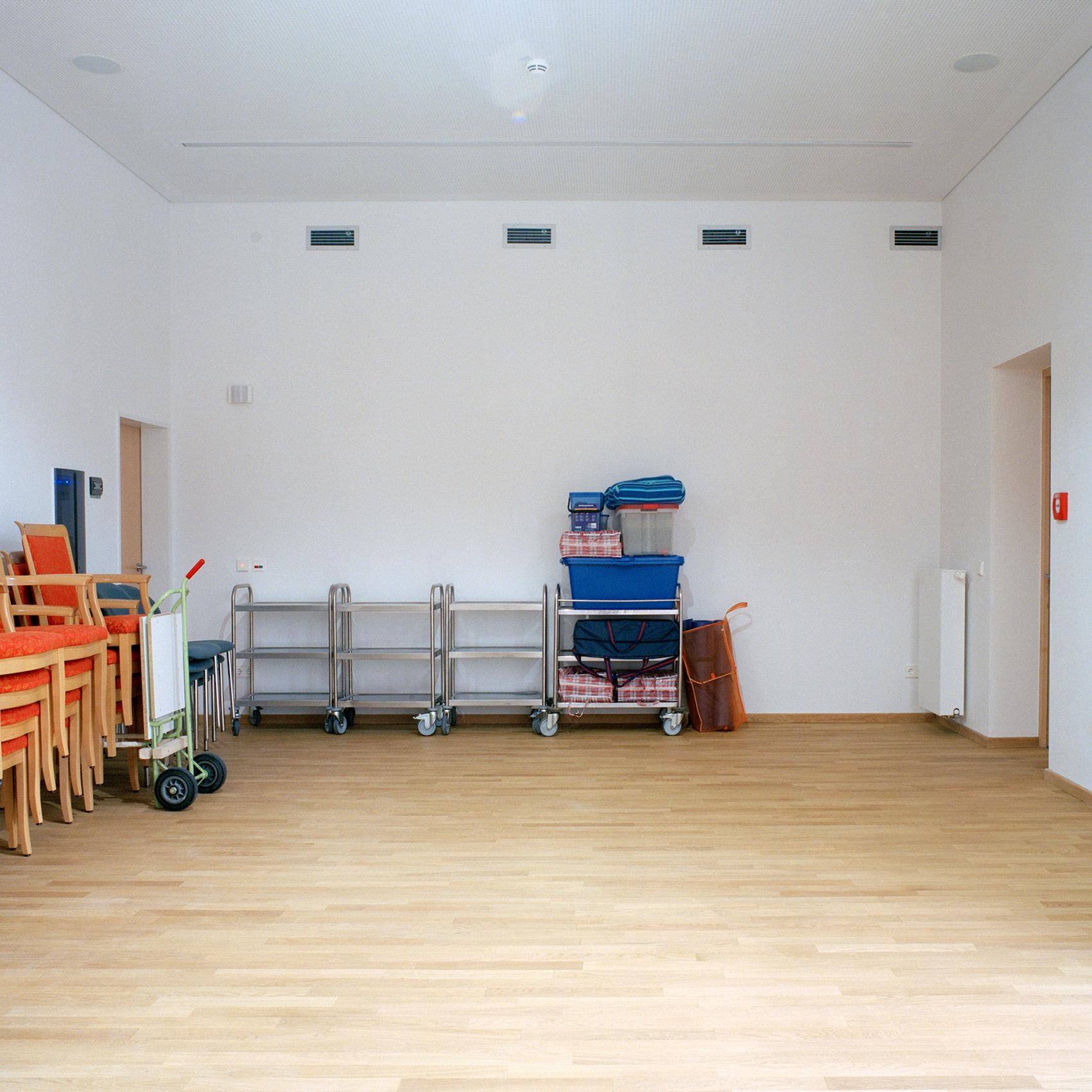 Georg Brauchle Haus, Muenchen. Gymnastikraum des Georg Brauchle Haus in der Staudingerstrasse 58 in Munchen am 18. Januar 2011. Der Gymnastikraum ist erst vor kurzem fertig gestellt worden. Fotograf: Evi Lemberger