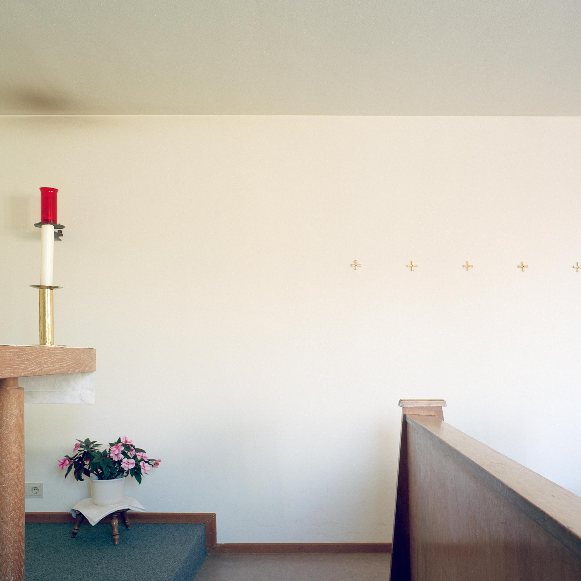 Marienstift, München. Kapelle im Altenheim Marienstift Muenchen in der Klugstrasse 144, Muenchen am 17. Januar 2011. Fotograf Evi Lemberger