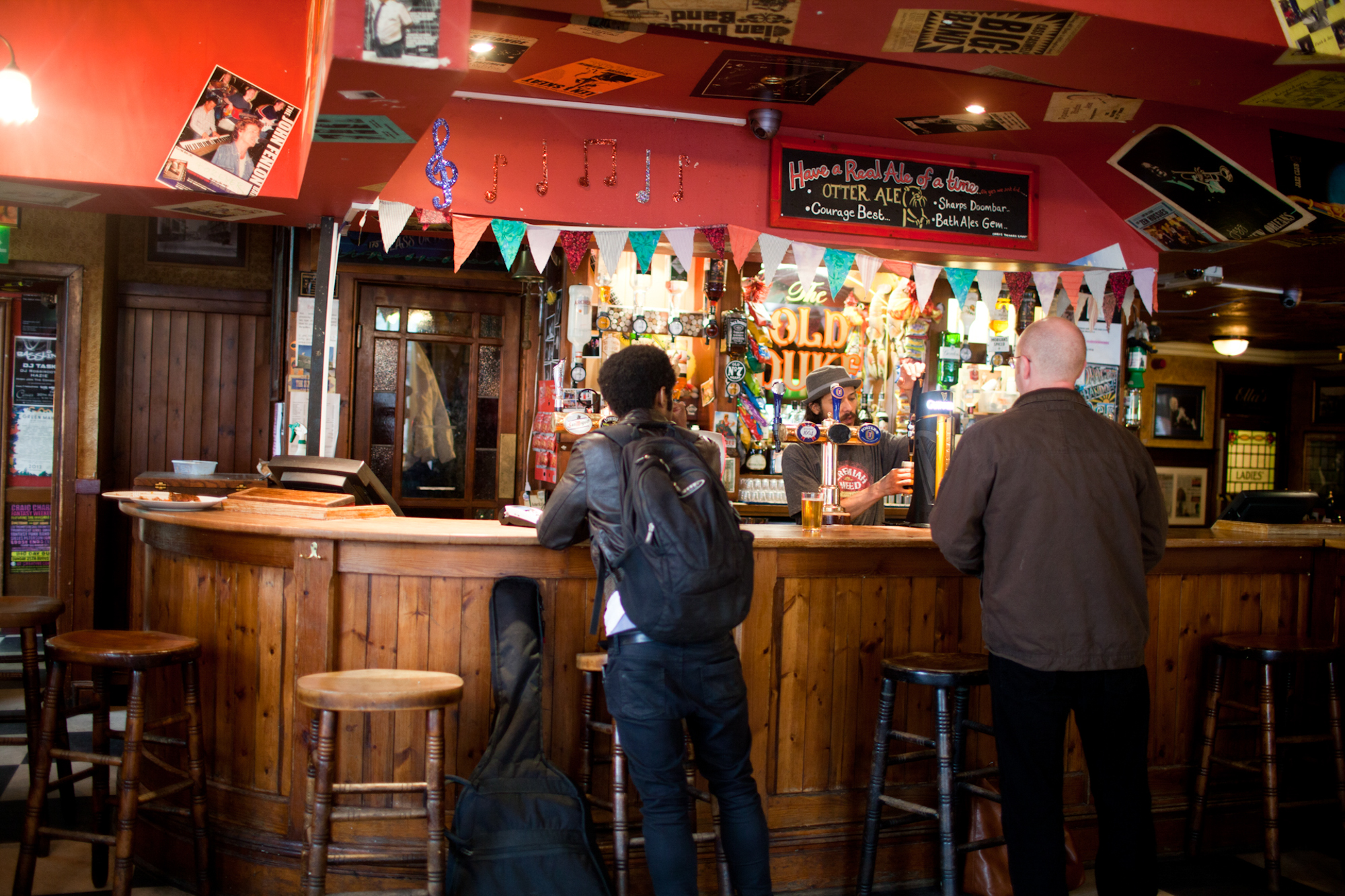 Feature about Bobby Anderson and his Band Yes Rebels. Bobby and his favourite Pub 'The old Duke' in Bristol. Photos: Evi Lemberger