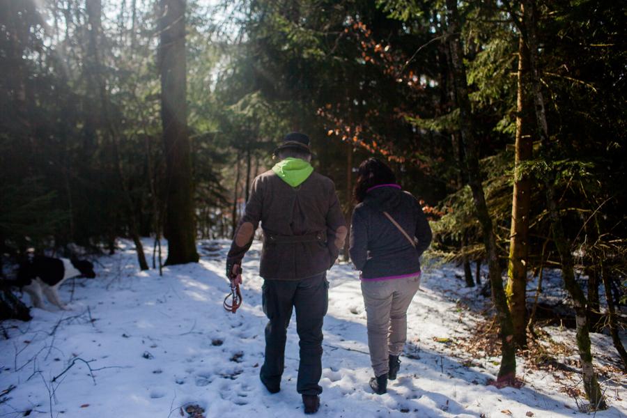 Thomas Stern und Karoline Hirsch bei einem Spaziergang in Hauzenberg.