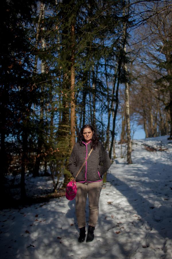 Portrait von Karoline Hirsch. Thomas Stein und Karoline Hirsch bei einem Spaziergang in Hauzenberg.